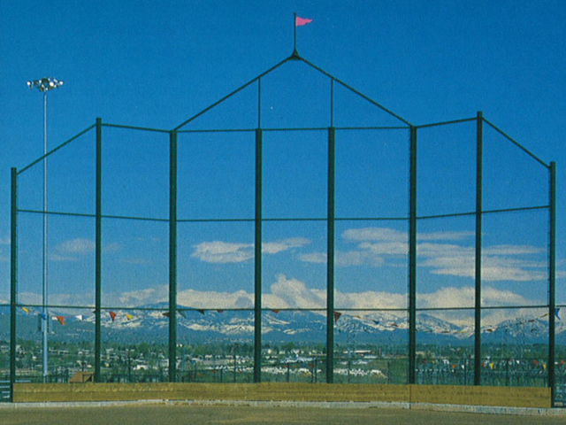L-0704 - Chain Link Fence for Baseball BackStop