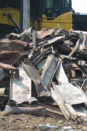 Large scrap metal pieces