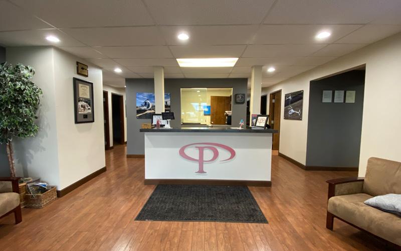 Lobby of Precision Aviation Training LLC in Newberg, Oregon