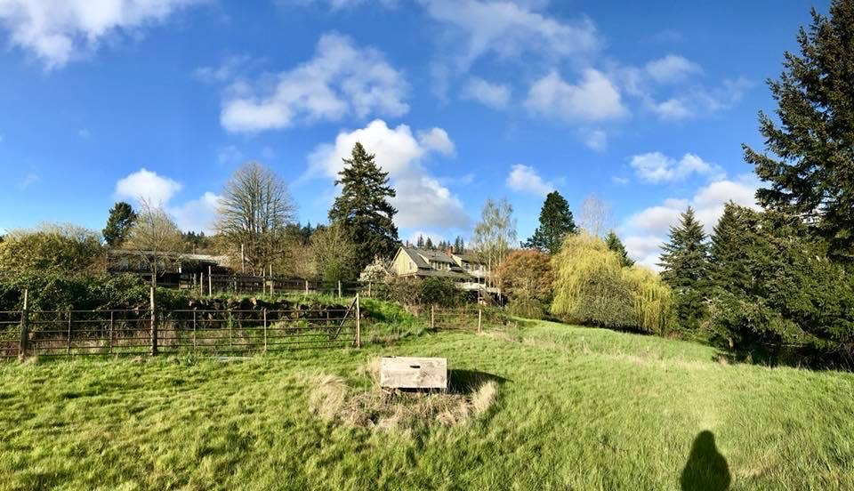 Backyard of student housing for pilots near Newberg, Oregon