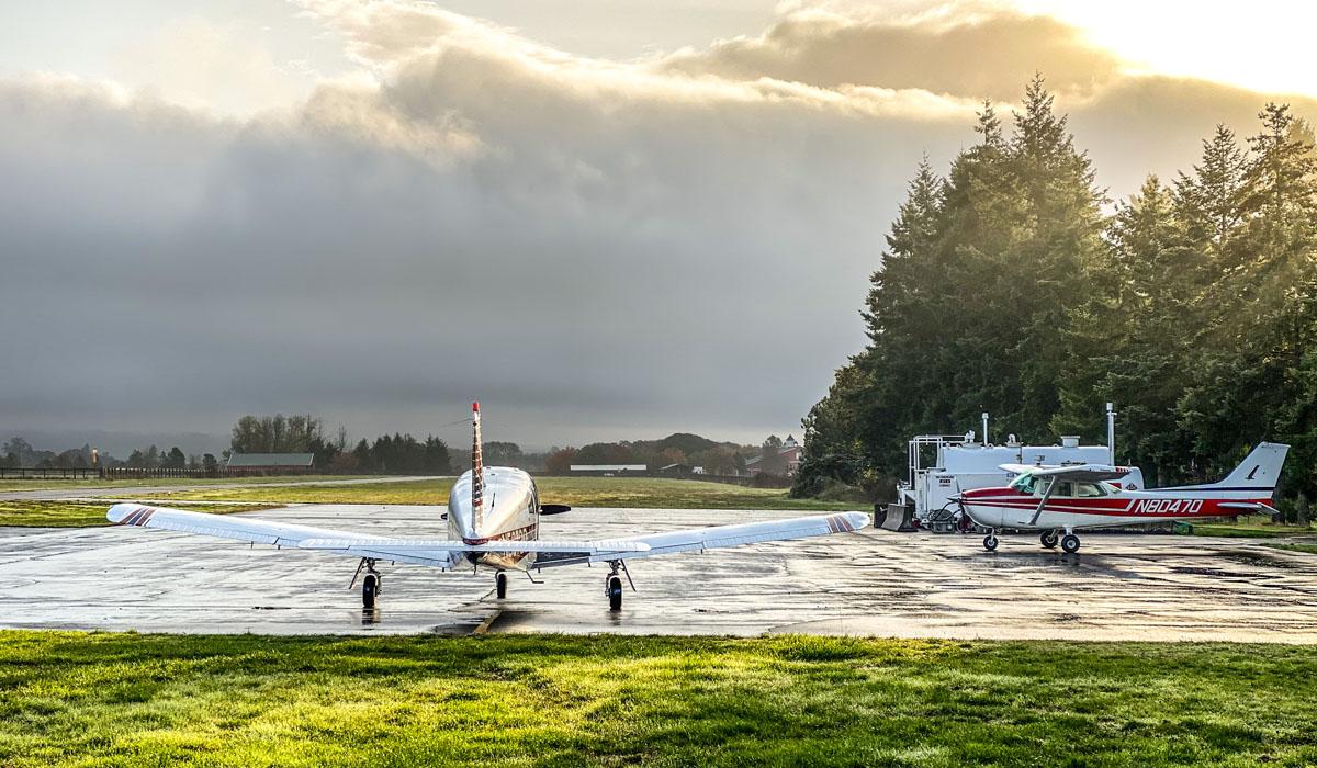 Precision Aviation training airplanes on runway