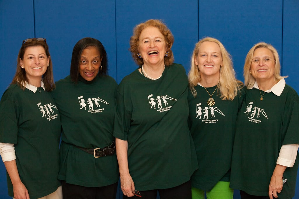 Five of us in pcds t-shirts