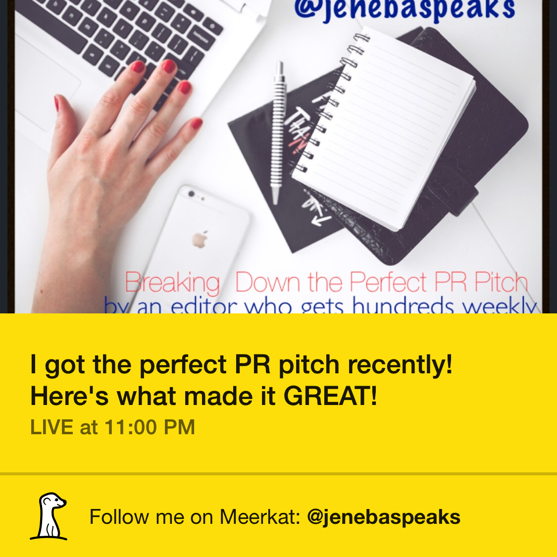 This is what made the BEST PR Pitch I've ever seen GREAT! (Video Link)