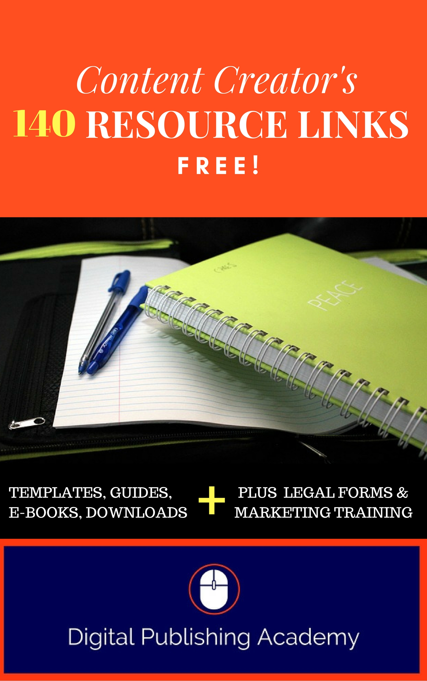 Content Creators and Marketers: 140 Links to the BEST FREE Resources for You
