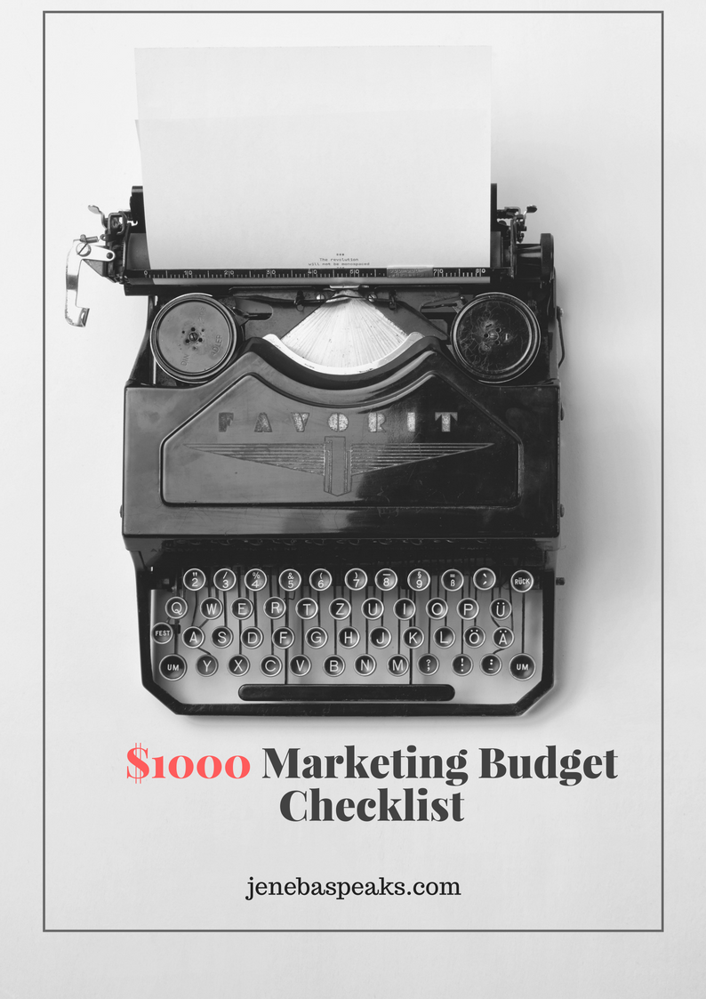 Your $1000 Marketing Budget Checklist Is Here (DOWNLOAD FREE!)