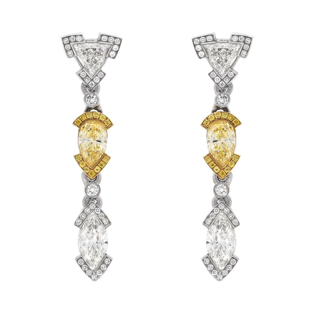 Diamond Fancy Shape Drop Earrings