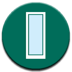 glass green icon