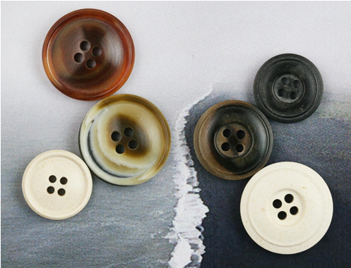 Add Some Shine to Your Design with Recycled Horn Powder Buttons