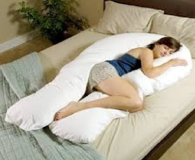 Sleeping on your side with a pillow between your knees isn't a good position for back pain