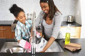 Teaching Children To Wash The Dishes