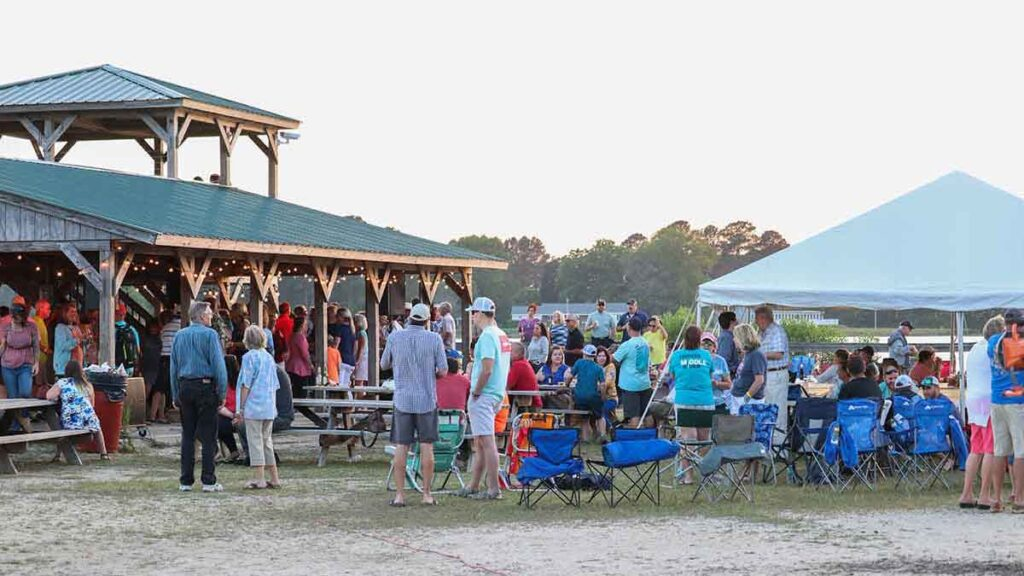 Seafood feast and party at Williams Wharf
