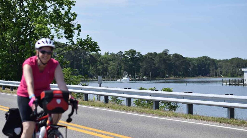 Cycling on Gwynn's Island route