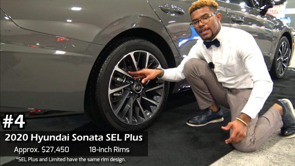#4 2020 Hyundai Sonata SEL Plus Approx. $27,450 18-inch rims