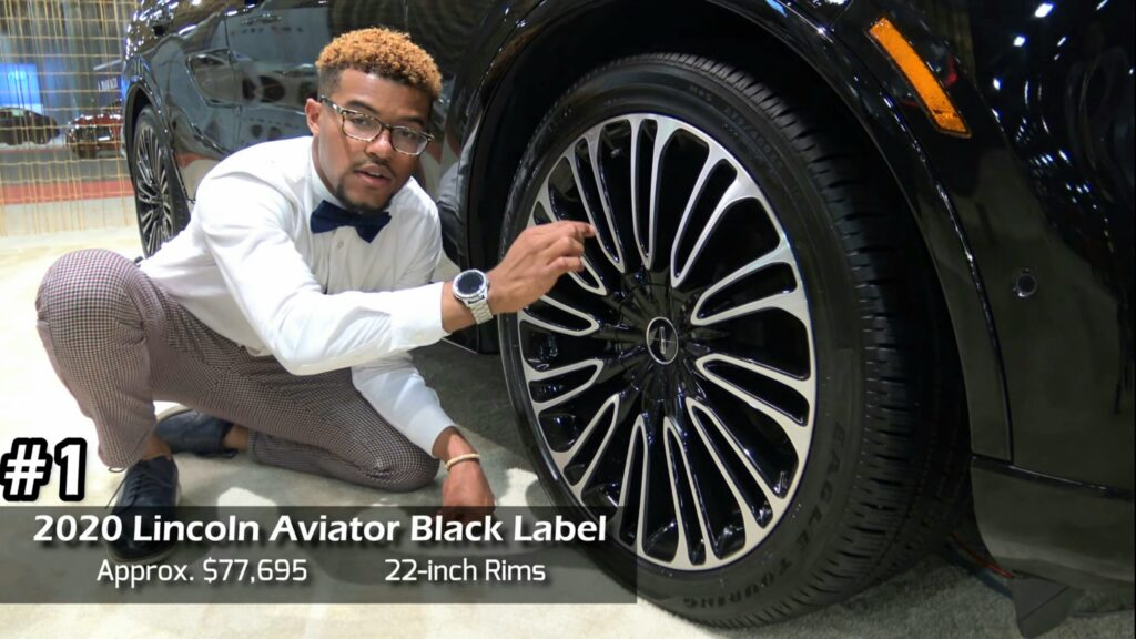 2020 Lincoln Aviator Black Label Approx. $77,695 22-inch rims