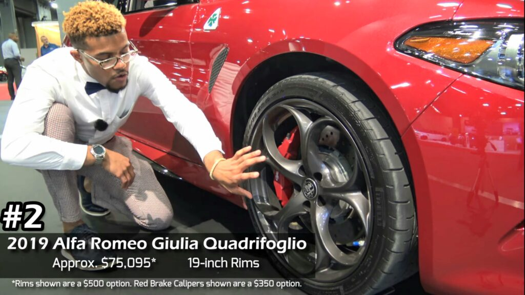 2019 Alfa Romeo Giulia Quadrifoglio Approx. $75,095 19-inch rims
