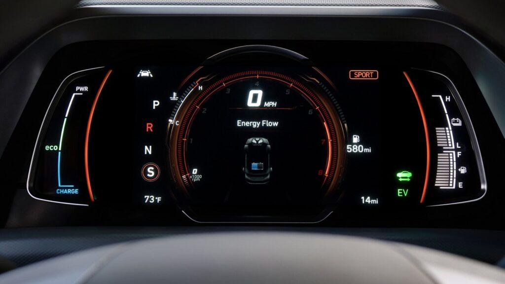 2020 Hyundai Ioniq Hybrid Gauge Cluster (sport mode)  BEST Road-Trip Cars of 2020