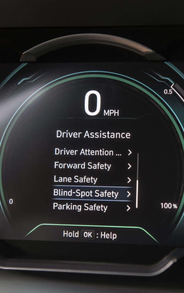 2020 Hyundai Ioniq Hybrid gauge cluster - Driver Assistance features digital display  BEST Road-Trip Cars of 2020
