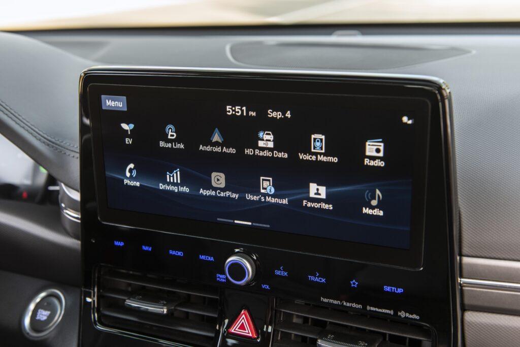 Hyundai's BlueLink touchscreen (home screen)_2020 Hyundai Ioniq Hybrid interior  BEST Road-Trip Cars of 2020