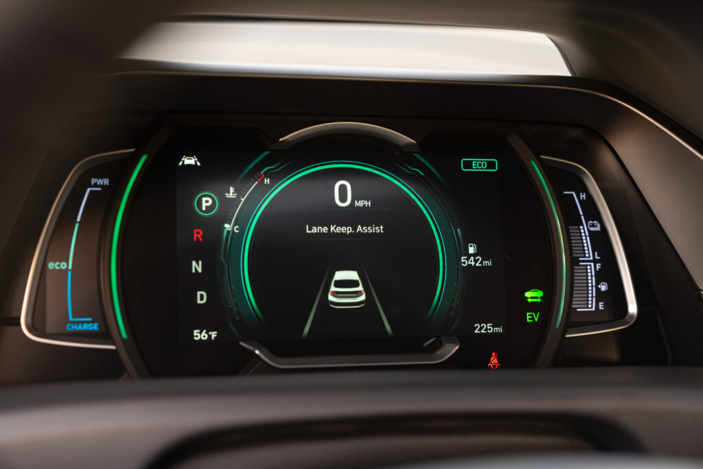 2020 Hyundai Ioniq Hybrid gauge cluster - Lane Keep Assist Digital Display (ECO Mode)  BEST Road-Trip Cars of 2020