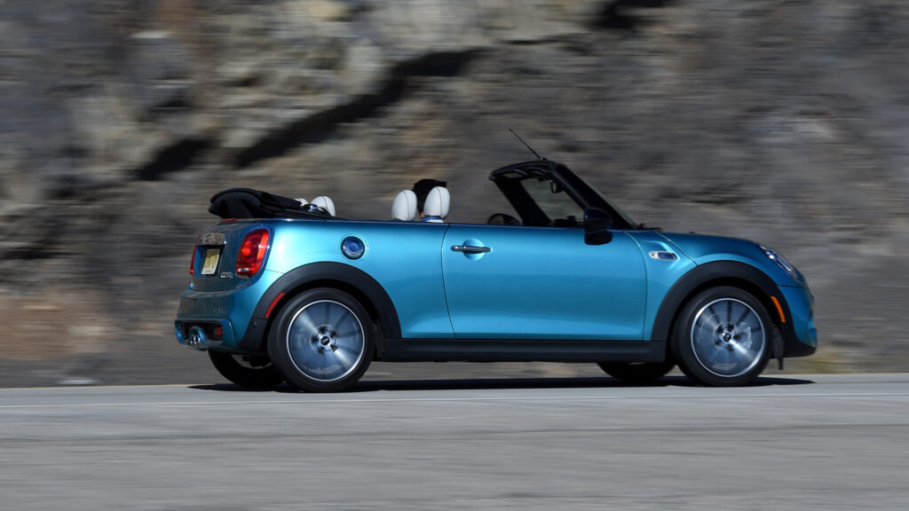 2021 Mini Cooper Convertible Side View Driving