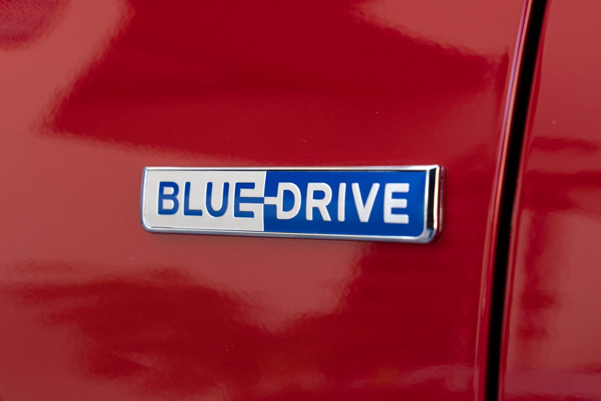 Hyundai Blue Drive logo (red paint) - 2020 Hyundai Ioniq Hybrid  BEST Road-Trip Cars of 2020