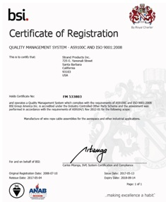 Quality Management System - AS9100D and ISO 9001:2015