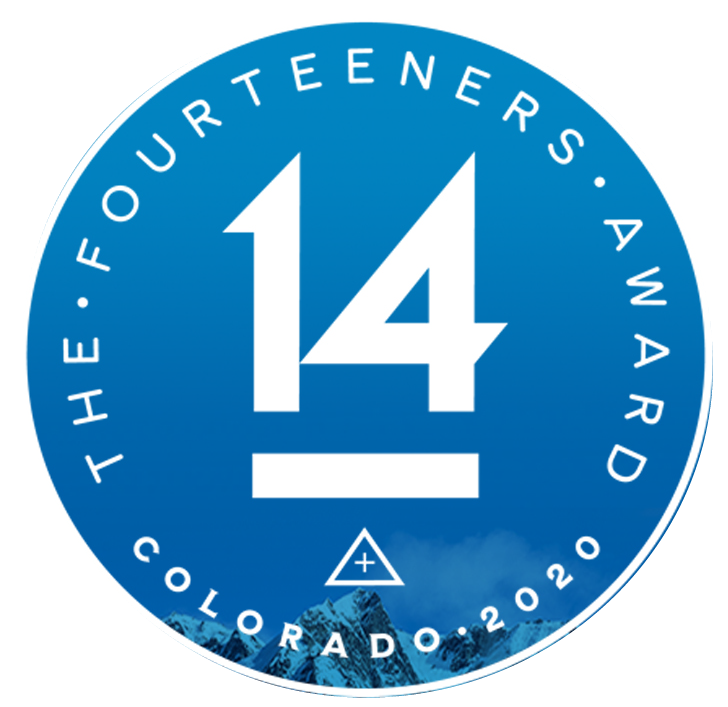 Fourteeners Award Colorado 2020
