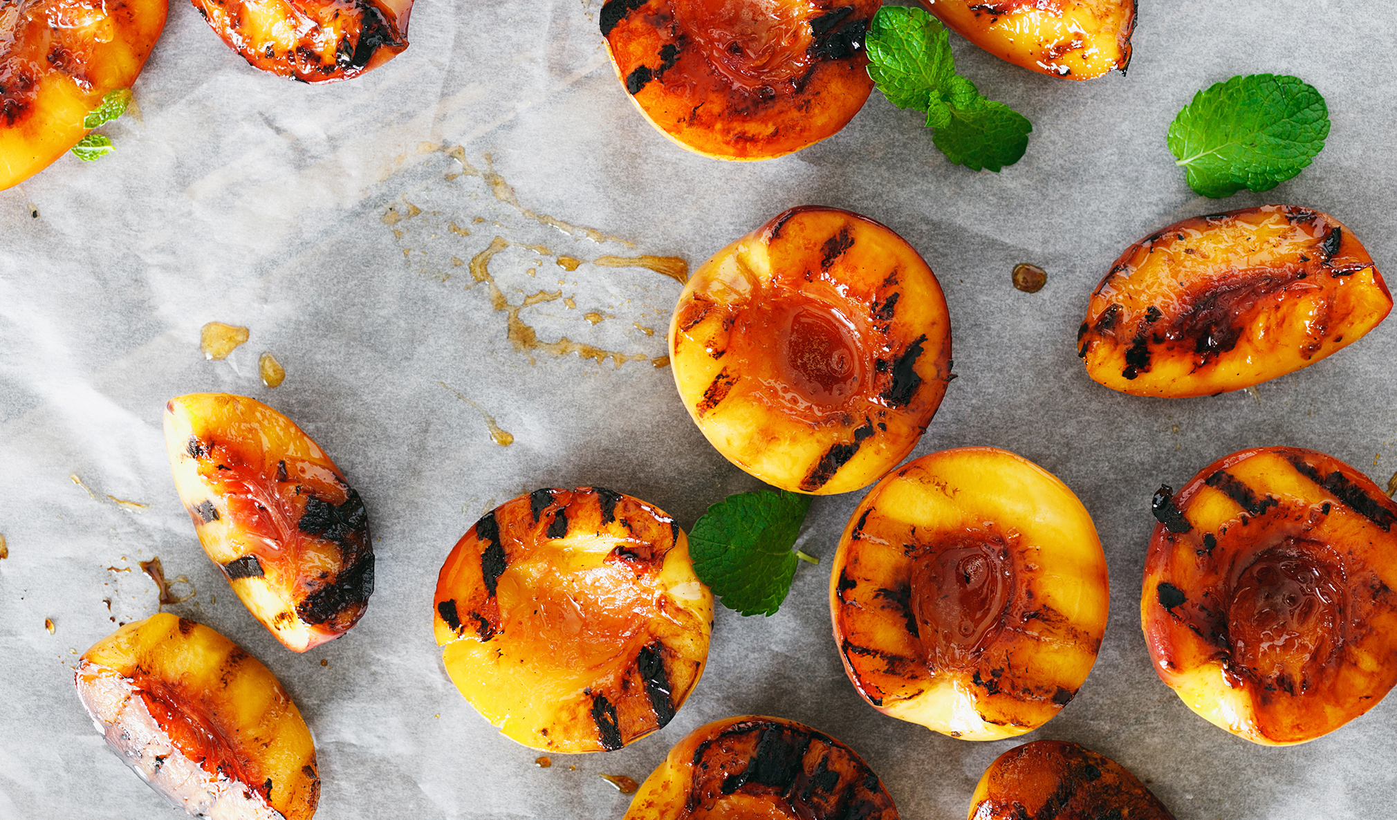Grilled Peaches - The Peach Pelican