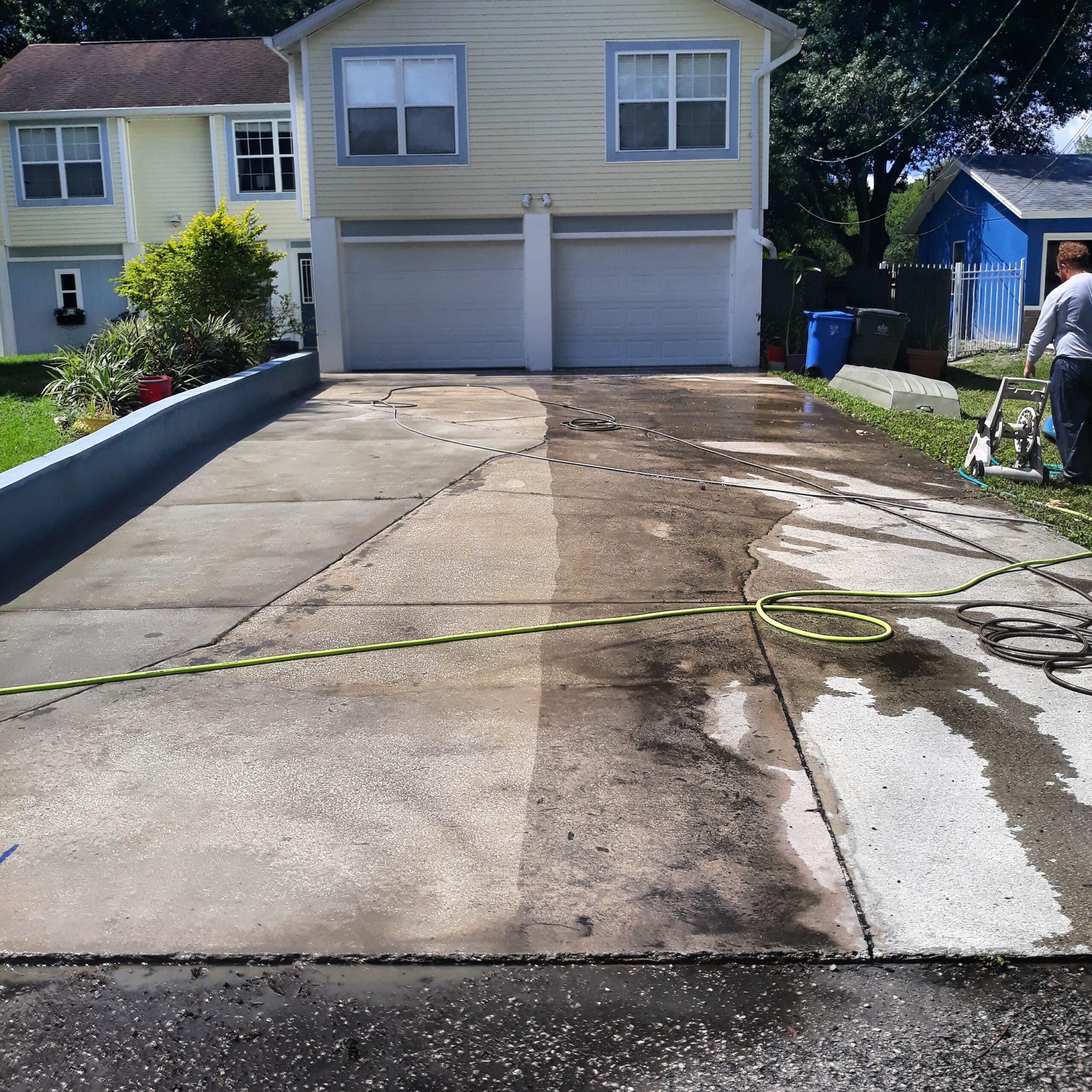 How to pressure wash your driveway