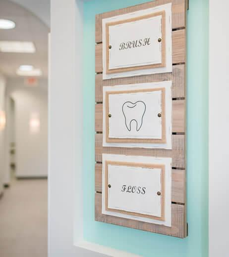 Brush and Floss Sign