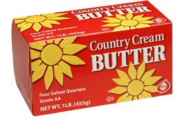 Picture of Country Cream Salted butter 1 pound quarters