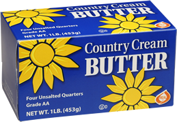 Picture of Country Cream 1 pound unsalted butter quarters