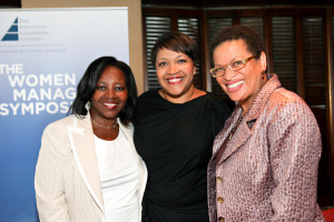 Discussed media with Dr. Julianne Malveaux, then president of Bennett College, in Executive Leadership Council's Fireside Chat in Chicago. Center: ELC's Leilani Brown, chief marketing officer, Starr Companies. (Photo: Dot Ward)