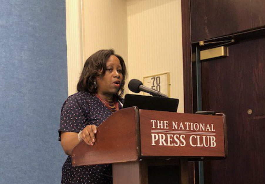 Speaking at the National Press Club.