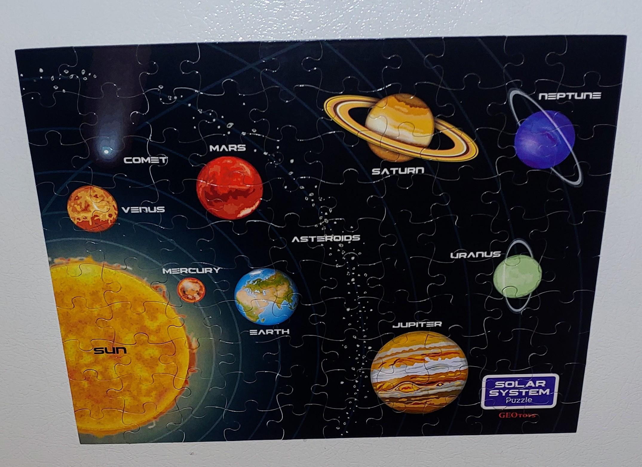 Solar System Magnetic Puzzle (100 pieces)