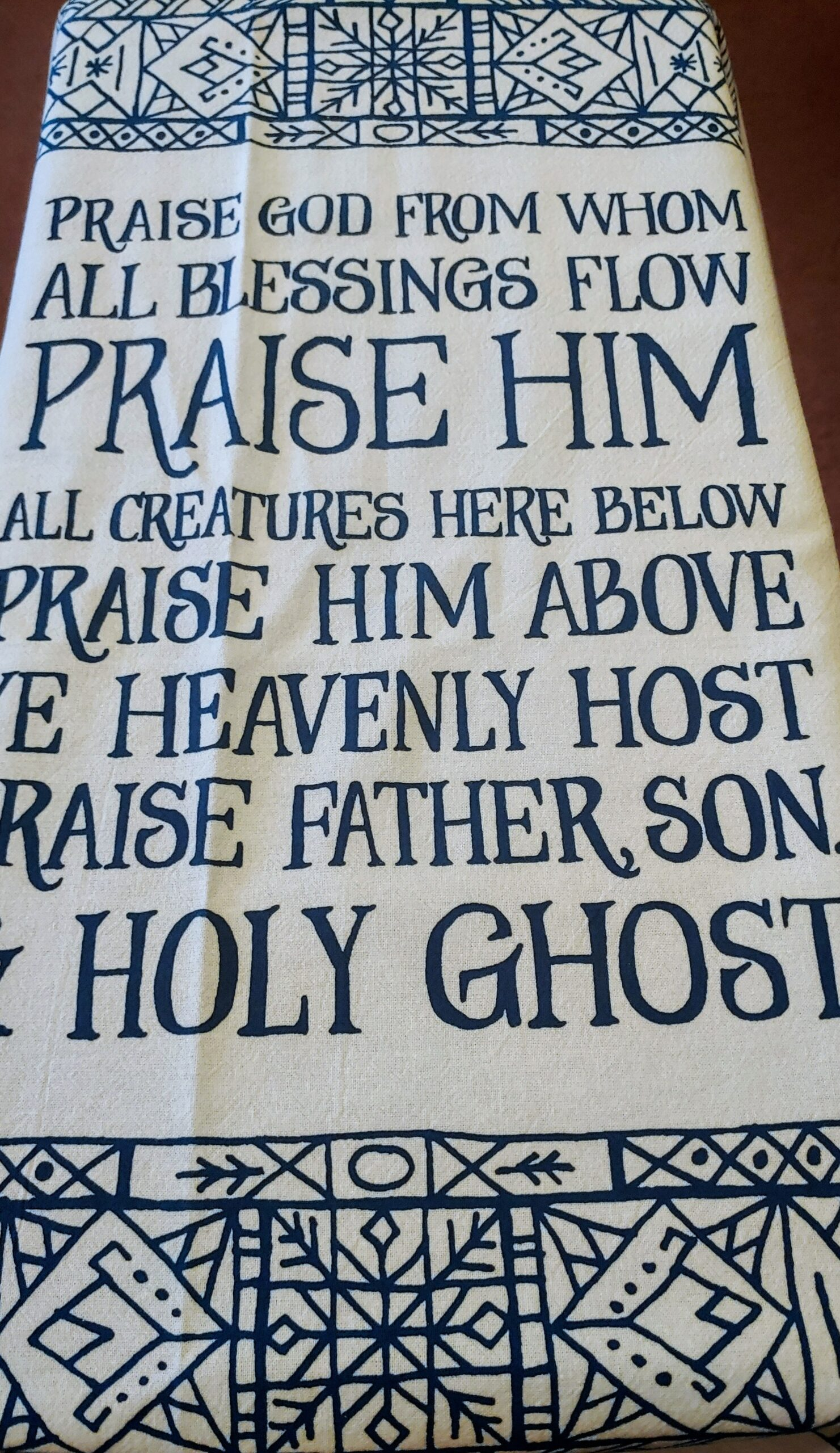 Hymn Tea Towel – Doxology (bestseller)
