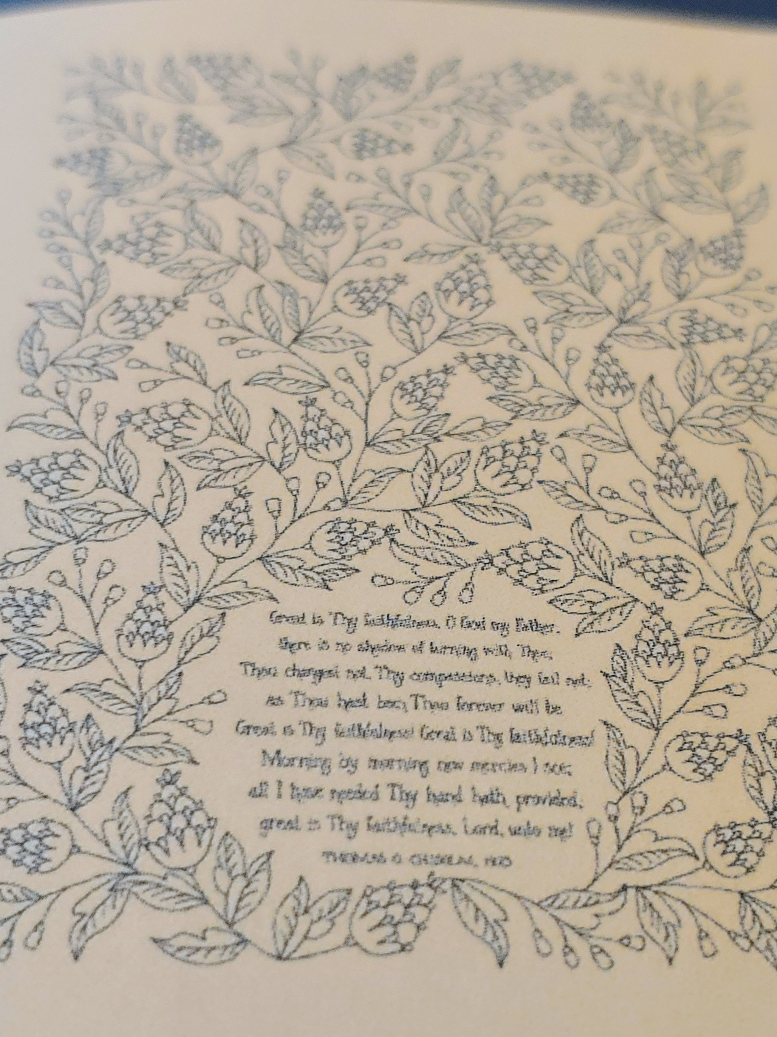 Hymn Tea Towel – Great is Thy Faithfulness