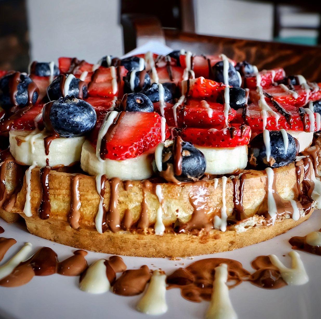 Mixed Fruit Waffle
