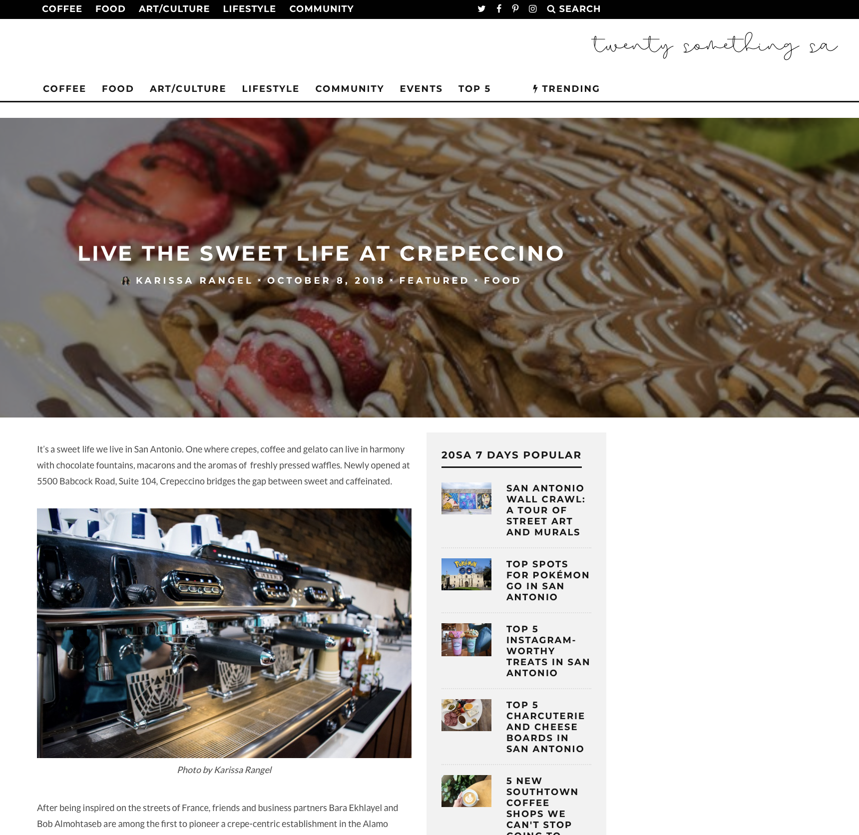 LIVE THE SWEET LIFE AT CREPECCINO
