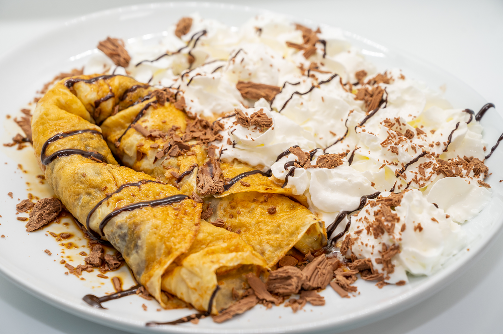 Mocha Whipped Cream Crepe