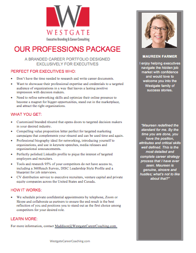 Executive Professions Package document