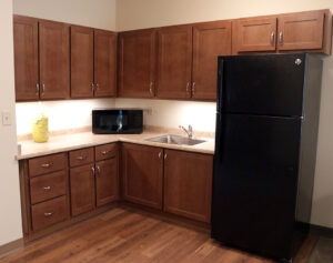 Kitchenette in model home