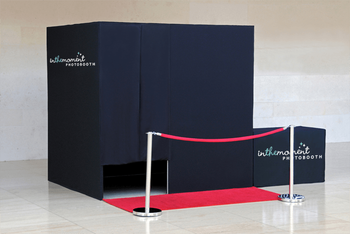 Large photo booth with red carpet