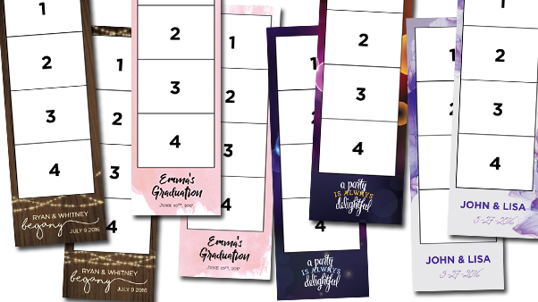Custom photo strip designs from past events