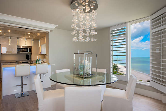 Gulf Shore Blvd Condo Dining/Kitchen
