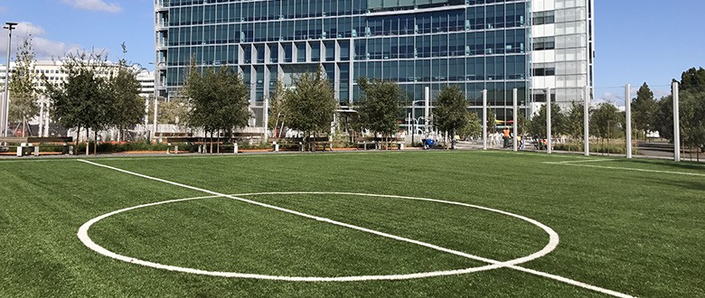 Google Goes Green With Artificial Grass Field