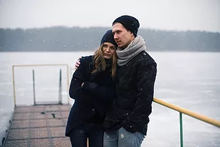 troubled couple on dock