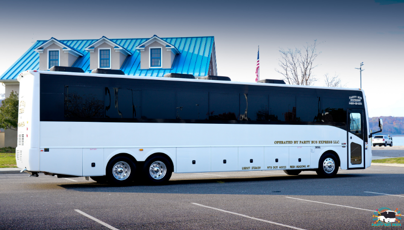 33 PAX Exterior Side by the NYC Party Bus Pros