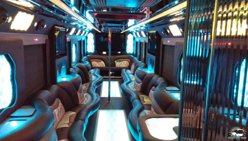 50 PAX Interior Lights by NYC Party Bus Pros