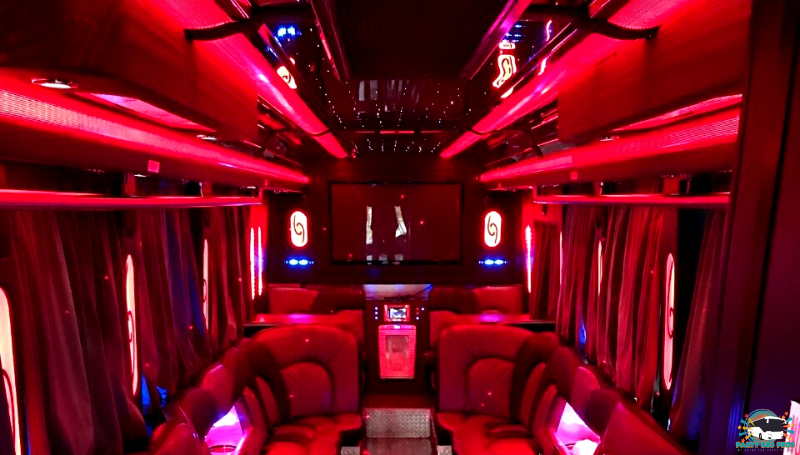33 PAX Interior by the NYC Party Bus Pros